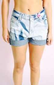 Bleachwash Denim Shorts